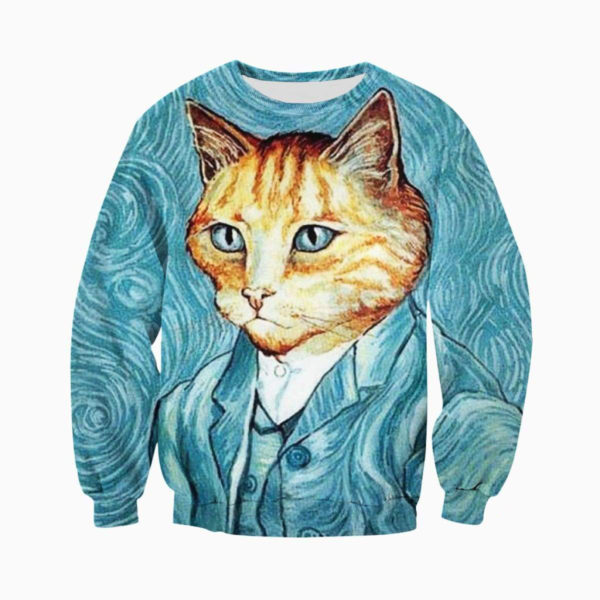 3D All Over Printed Cat Art Shirts and Shorts
