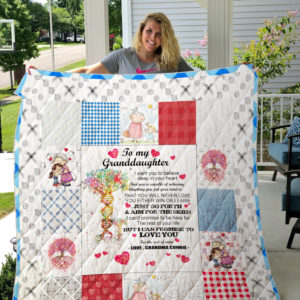 To my Granddaughter Quilt Blank 01