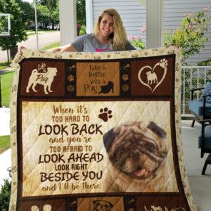 Pug Custom Quilt Blanket 01