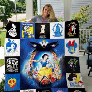 Snow White Quilt Blanket 01