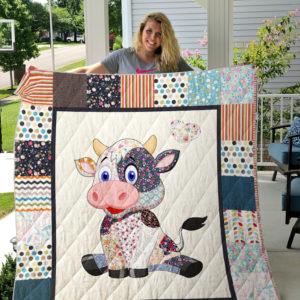 Cute Cow Quilt Blanket