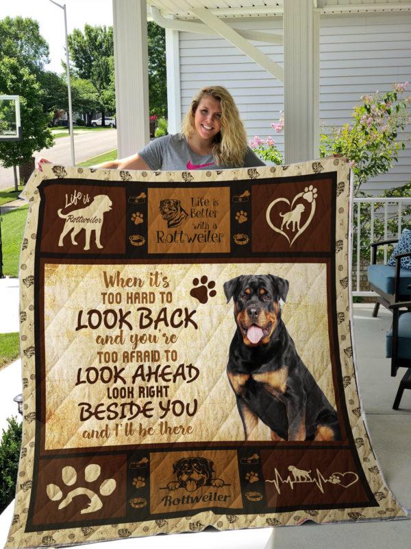 Dog-Blanket Quilt-Rottweiler 09092019