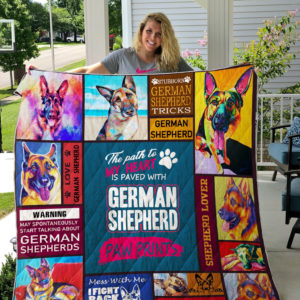 German Shepherd Quilt Blanket