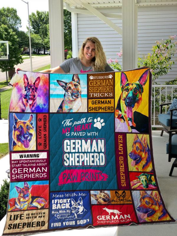 German Shepherd Quilt Blanket