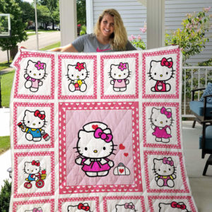 Hello Kitty Quilt Blanket For Fans