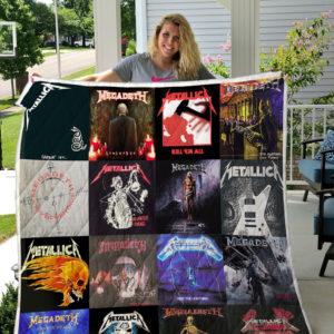 Megadeth and Metallica mixed- custom quilt