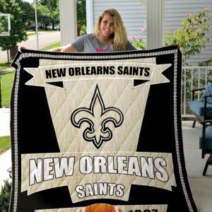 New Orleans Saints Quilt Blanket 04