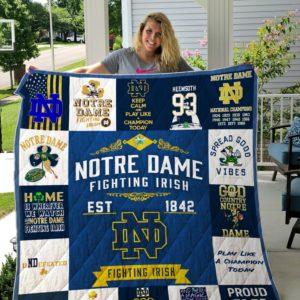 Notre Dame custom quilt blanket ver 1