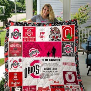 Ohio State Buckeyes – TO MY DAUGHTER – LOVE DAD Custom Quilt 04