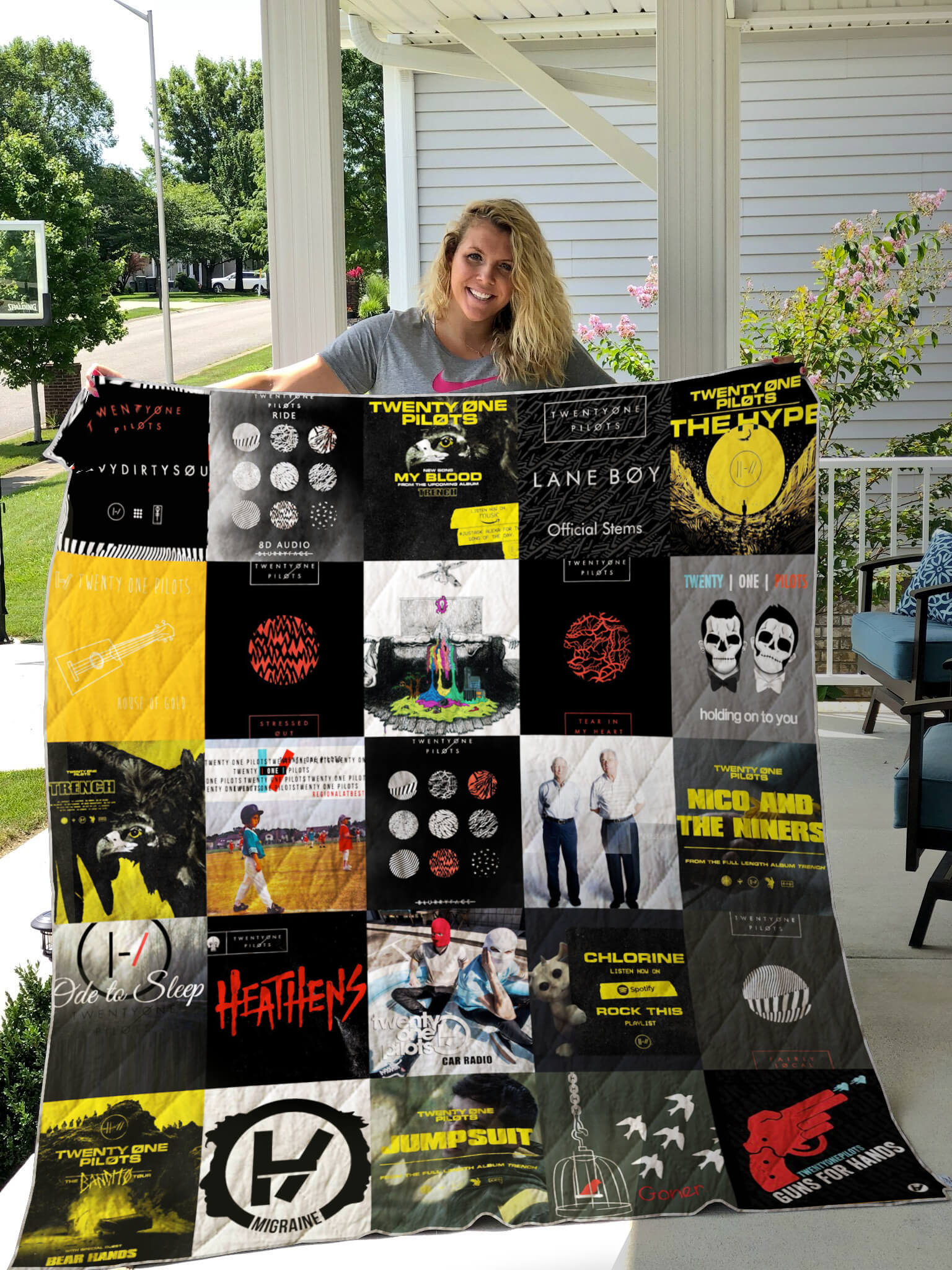Twenty One Pilots Albums Quilt Blanket For Fans Ver 25 Groveblankets