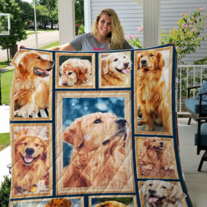 Golden Retriever Dog Blanket