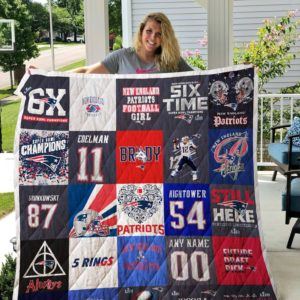 New England Patriots - Tom Brady Quilt Blanket 02