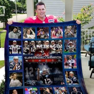 New England Patriots - Tom Brady Quilt Blanket