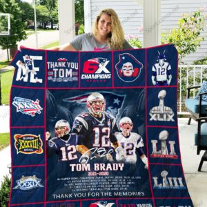Tom Brady 2001-2020 Leave Memory Gifts for Fans Quilt Blanket