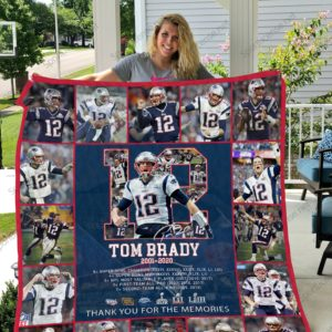 Tom Brady 2001-2020 New England Patriots Quilt Blanket