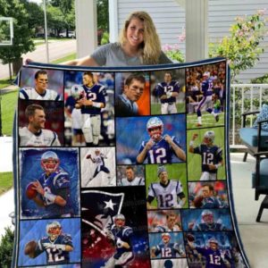 Tom Brady Patriots Quilt Blanket 01