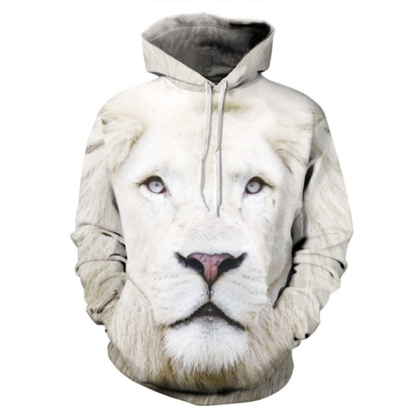White Lion 3d Hoodie