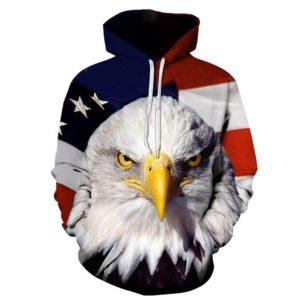 Us Eagle 3d Hoodie