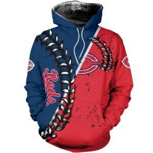 Mlb- Cincinnati Reds 3d Hoodie Style 09