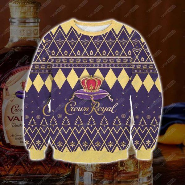 Crown-Royal Ugly-Christmas-Sweatshirt 3d Print
