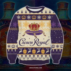 Crown-Royal Ugly-Christmas-Sweatshirt 3d Print