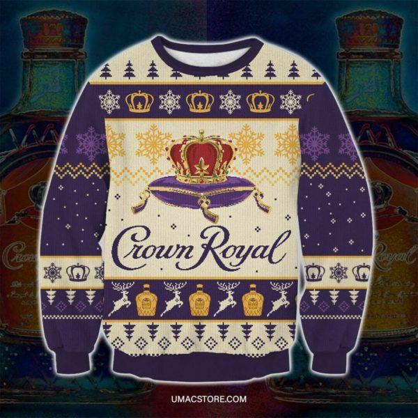 Crown Royal 3d Print Ugly Christmas Sweatshirt. Perfеct Gifts For Xmas