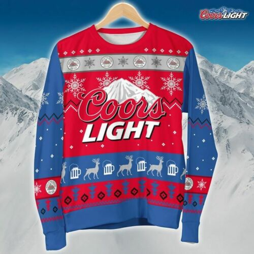 Coors Light Ugly Christmas Sweatshirt