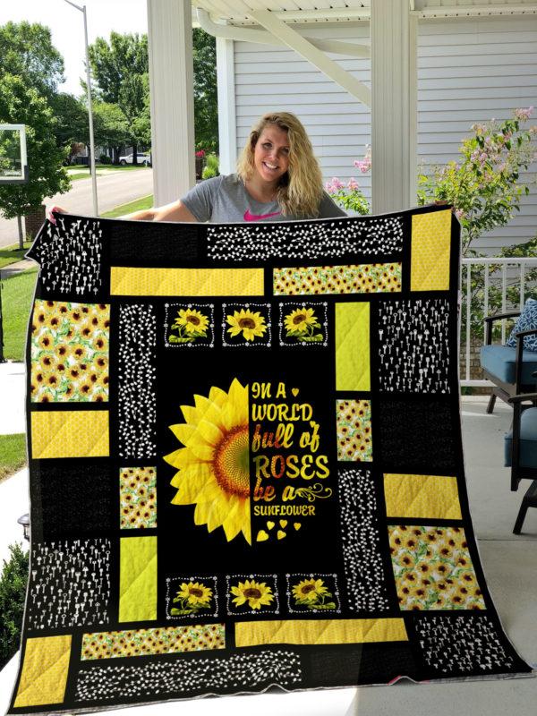 Sunflower Quilt Blanket