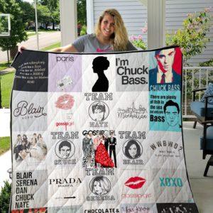 Gossip Girl T-Shirt Quilt Blanket For Fans