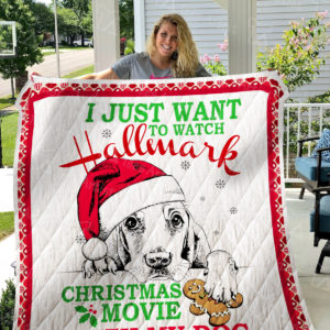 Hallmark Christmas Movies With Dog Quilt Blanket