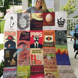 Anthony Burgess Books Quilt Blanket