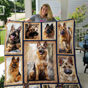 German Shepherd Natural Quilt Blanket Great Customized Blanket Gifts For Birthday Christmas Thanksgiving