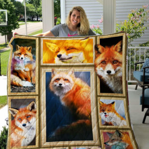 Fox Picture Art Quilt Blanket Great Customized Blanket Gifts For Birthday Christmas Thanksgiving