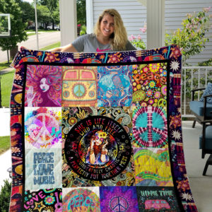 Hippie Wild And Free Quilt Blanket Great Customized Gifts For Birthday Christmas Thanksgiving Perfect Gifts For Hippie
