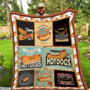 Just Say Hot Dog And I Will Turn Around Quilt Blanket Great Customized Gifts For Birthday Christmas Thanksgiving Perfect Gifts For Hot Dog Lover