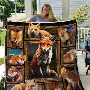3d Fox Picture Collection Quilt Blanket Great Customized Blanket Gifts For Birthday Christmas Thanksgiving