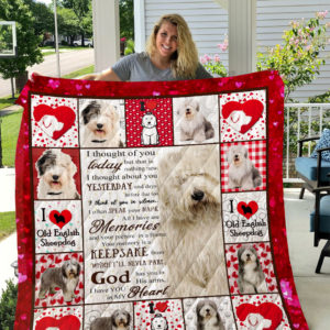 Old English Sheep God Has You In His Arms I Have You In My Heart Quilt Blanket Great Customized Blanket Gifts For Birthday Christmas Thanksgiving