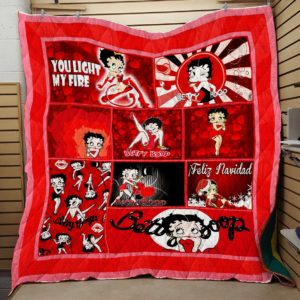 Betty Boop Ver 10 All Season Plus Size Quilt Blanket