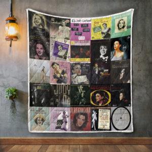 Judy Garland Album Covers Quilt Blanket