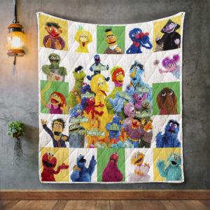 Sesame Street Album Covers Quilt Blanket