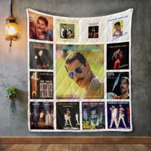Freddie Mercury Album Covers Quilt Blanket