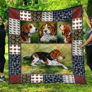 Cute Beagle Pets Dog Quilt Blanket Great Customized Blanket Gifts For Birthday Christmas Thanksgiving