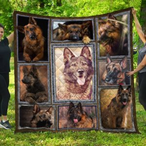 German Shepherd Collection Quilt Blanket Great Customized Blanket Gifts For Birthday Christmas Thanksgiving