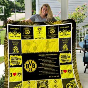 Borussia Dortmund Für Meine Tochter Annika Dein Papa Quilt Blanket