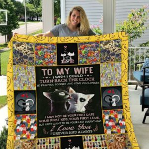 Personalized Cat To My Wife Quilt Blanket I Love You Forever And Always Great Customized Blanket Gifts For Birthday Christmas Thanksgiving