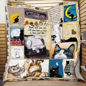 Cat People That Hate Cats Will Come Back As Mice In Their Next Life Quilt Blanket Great Customized Blanket Gifts For Birthday Christmas Thanksgiving
