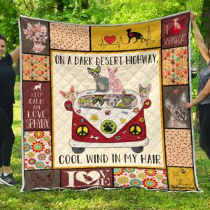 Sphynx Cats Cool Wind In My Hair Quilt Blanket Great Customized Blanket Gifts For Birthday Christmas Thanksgiving Anniversary