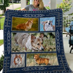 Corgi Sad Face Pattern Quilt Blanket Great Customized Blanket Gifts For Birthday Christmas Thanksgiving Anniversary