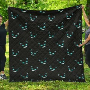 Creepy Smile From Cat Quilt Blanket Great Customized Blanket Gifts For Birthday Christmas Thanksgiving