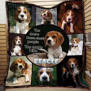 Beagle Better With Beagle Dogs The More I Learn About People The More I Like My Beagle Quilt Blanket Great Customized Blanket Gifts For Birthday Christmas Thanksgiving